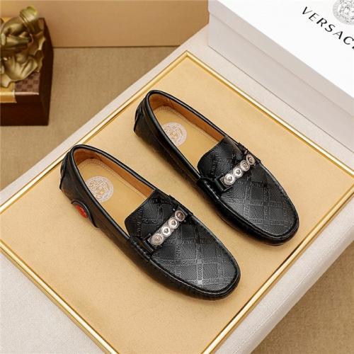 Versace Leather Shoes For Men #879624 $68.00 USD, Wholesale Replica Versace Leather Shoes