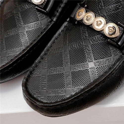 Replica Versace Leather Shoes For Men #879624 $68.00 USD for Wholesale