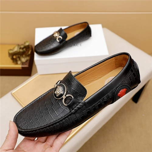 Replica Versace Leather Shoes For Men #879625 $68.00 USD for Wholesale
