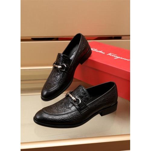 Ferragamo Salvatore FS Leather Shoes For Men #879644 $82.00 USD, Wholesale Replica Ferragamo Leather Shoes