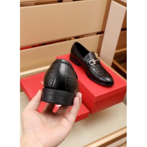Replica Ferragamo Salvatore FS Leather Shoes For Men #879644 $82.00 USD for Wholesale