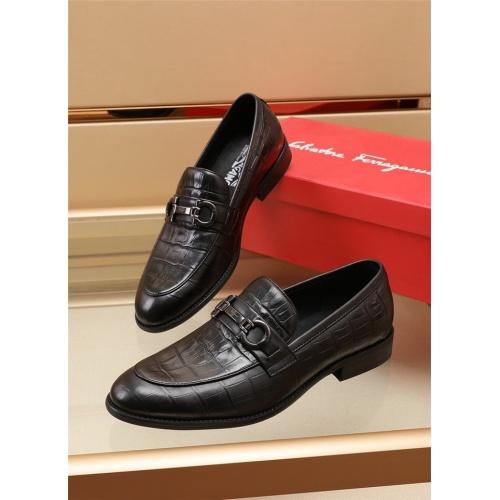 Ferragamo Salvatore FS Leather Shoes For Men #879655 $82.00 USD, Wholesale Replica Ferragamo Leather Shoes