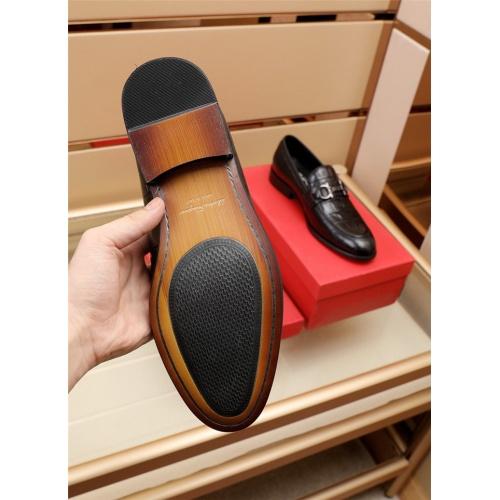 Replica Ferragamo Salvatore FS Leather Shoes For Men #879655 $82.00 USD for Wholesale
