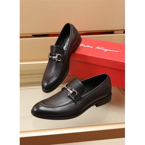 Ferragamo Salvatore FS Leather Shoes For Men #879656 $82.00 USD, Wholesale Replica Ferragamo Leather Shoes
