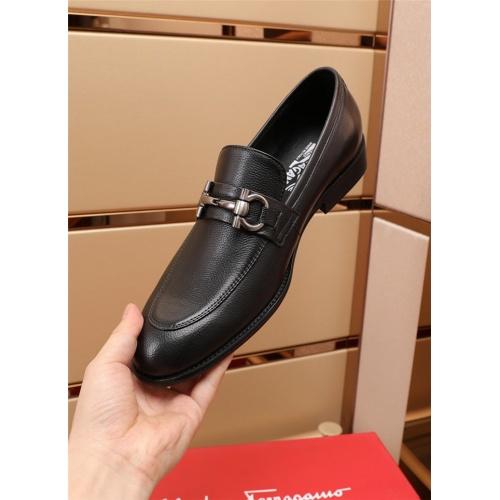 Replica Ferragamo Salvatore FS Leather Shoes For Men #879656 $82.00 USD for Wholesale