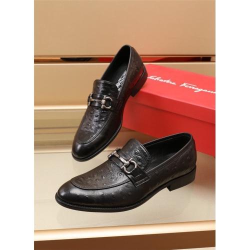 Ferragamo Salvatore FS Leather Shoes For Men #879657 $82.00 USD, Wholesale Replica Ferragamo Leather Shoes