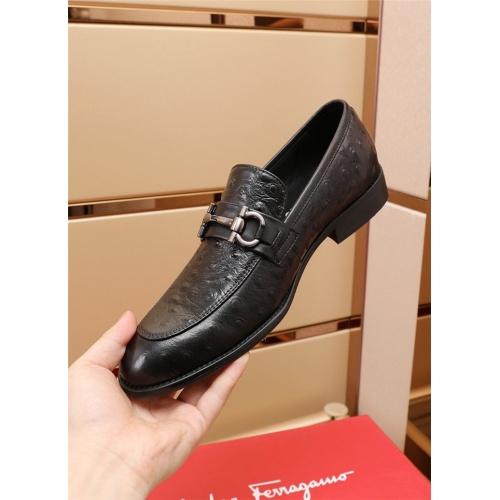 Replica Ferragamo Salvatore FS Leather Shoes For Men #879657 $82.00 USD for Wholesale