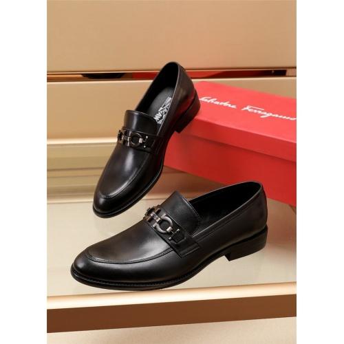Ferragamo Salvatore FS Leather Shoes For Men #879658 $82.00 USD, Wholesale Replica Ferragamo Leather Shoes