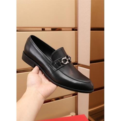 Replica Ferragamo Salvatore FS Leather Shoes For Men #879658 $82.00 USD for Wholesale
