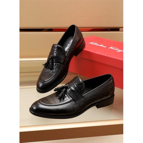 Ferragamo Salvatore FS Leather Shoes For Men #879659 $82.00 USD, Wholesale Replica Ferragamo Leather Shoes