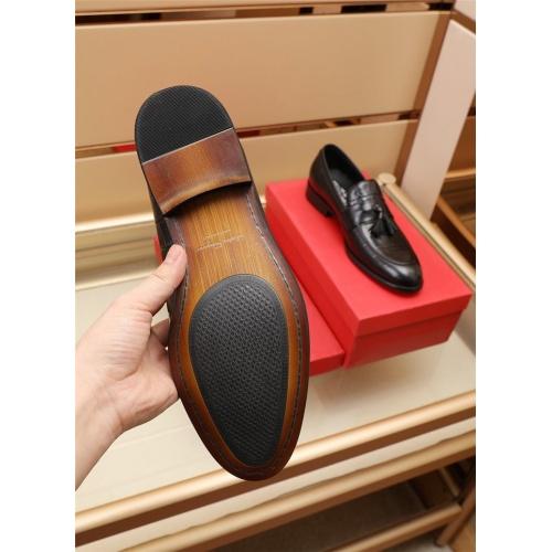 Replica Ferragamo Salvatore FS Leather Shoes For Men #879659 $82.00 USD for Wholesale