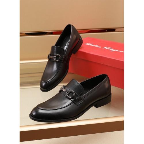 Ferragamo Salvatore FS Leather Shoes For Men #879660 $82.00 USD, Wholesale Replica Ferragamo Leather Shoes