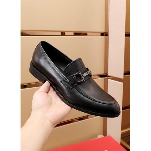 Replica Ferragamo Salvatore FS Leather Shoes For Men #879660 $82.00 USD for Wholesale