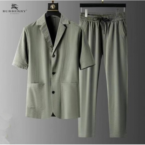 Burberry Tracksuits Short Sleeved For Men #879764 $82.00 USD, Wholesale Replica Burberry Tracksuits