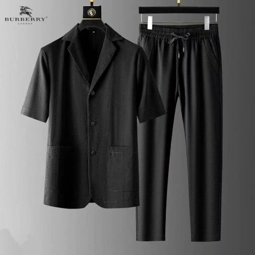 Burberry Tracksuits Short Sleeved For Men #879765 $82.00 USD, Wholesale Replica Burberry Tracksuits