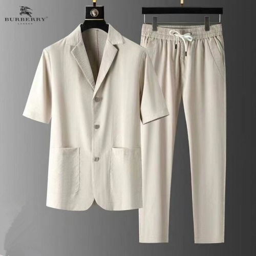 Burberry Tracksuits Short Sleeved For Men #879766 $82.00 USD, Wholesale Replica Burberry Tracksuits
