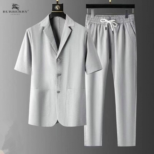 Burberry Tracksuits Short Sleeved For Men #879767 $82.00 USD, Wholesale Replica Burberry Tracksuits