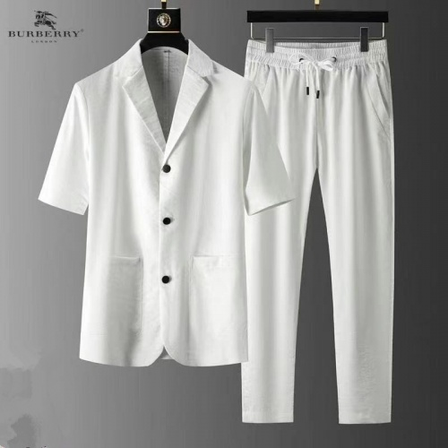 Burberry Tracksuits Short Sleeved For Men #879768 $82.00 USD, Wholesale Replica Burberry Tracksuits
