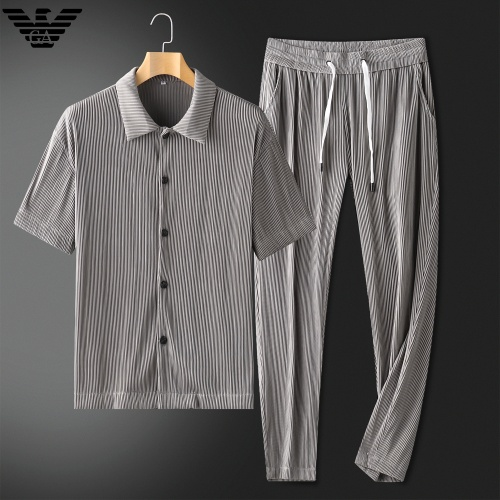Armani Tracksuits Short Sleeved For Men #879769 $88.00 USD, Wholesale Replica Armani Tracksuits