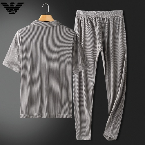 Replica Armani Tracksuits Short Sleeved For Men #879769 $88.00 USD for Wholesale