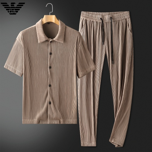 Armani Tracksuits Short Sleeved For Men #879770 $88.00 USD, Wholesale Replica Armani Tracksuits
