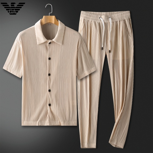 Armani Tracksuits Short Sleeved For Men #879771 $88.00 USD, Wholesale Replica Armani Tracksuits