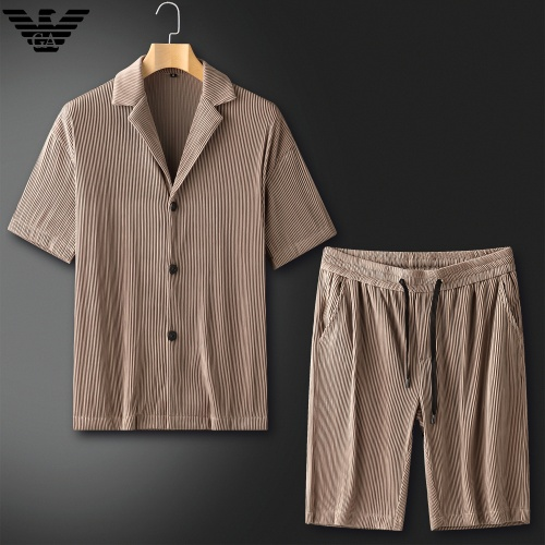 Armani Tracksuits Short Sleeved For Men #879773 $82.00 USD, Wholesale Replica Armani Tracksuits
