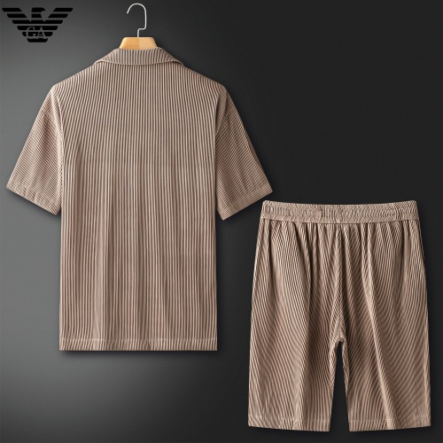 Replica Armani Tracksuits Short Sleeved For Men #879773 $82.00 USD for Wholesale
