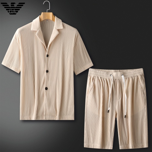 Armani Tracksuits Short Sleeved For Men #879774 $82.00 USD, Wholesale Replica Armani Tracksuits
