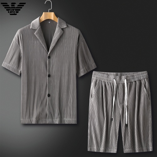 Armani Tracksuits Short Sleeved For Men #879775 $82.00 USD, Wholesale Replica Armani Tracksuits