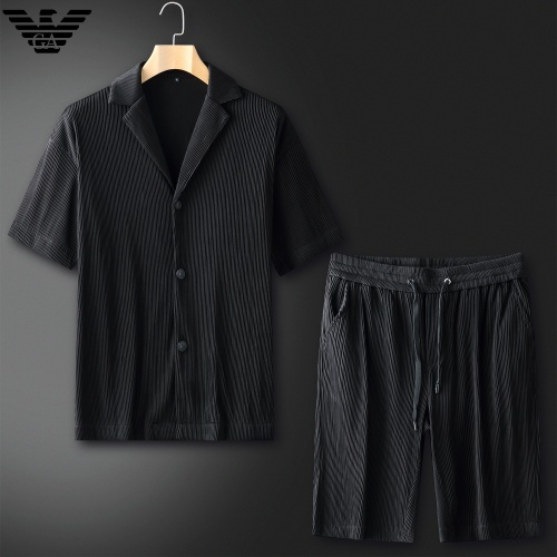 Armani Tracksuits Short Sleeved For Men #879776 $82.00 USD, Wholesale Replica Armani Tracksuits