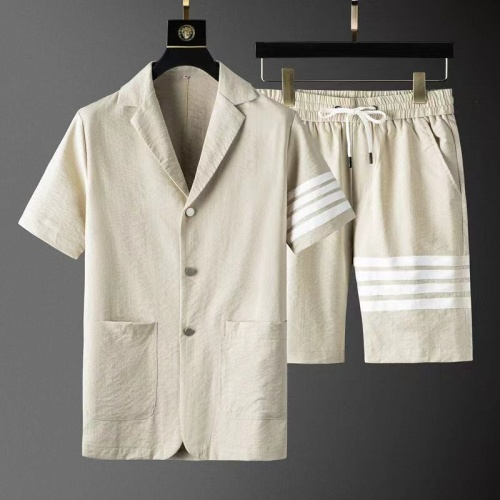 Thom Browne TB Tracksuits Short Sleeved For Men #879780 $76.00 USD, Wholesale Replica Thom Browne TB Tracksuits