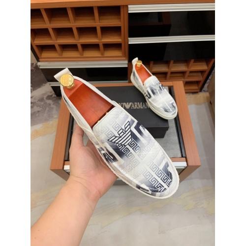 Replica Armani Casual Shoes For Men #879783 $68.00 USD for Wholesale
