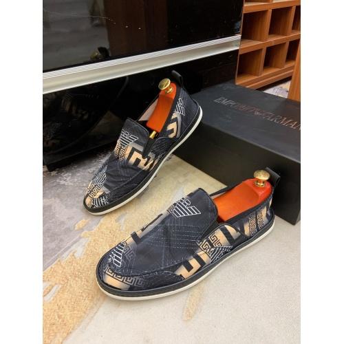 Armani Casual Shoes For Men #879784 $68.00 USD, Wholesale Replica Armani Casual Shoes