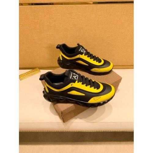 Armani Casual Shoes For Men #879786 $80.00 USD, Wholesale Replica Armani Casual Shoes
