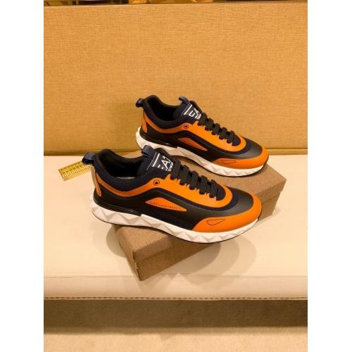 Armani Casual Shoes For Men #879787 $80.00 USD, Wholesale Replica Armani Casual Shoes
