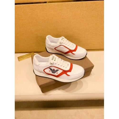 Armani Casual Shoes For Men #879789 $80.00 USD, Wholesale Replica Armani Casual Shoes