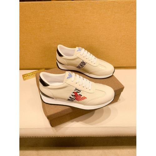 Armani Casual Shoes For Men #879791 $80.00 USD, Wholesale Replica Armani Casual Shoes