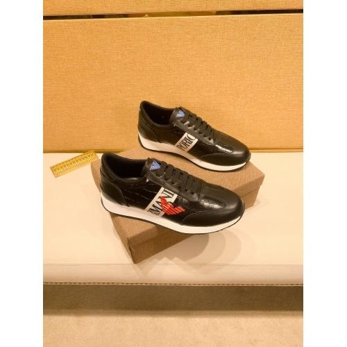 Armani Casual Shoes For Men #879792 $80.00 USD, Wholesale Replica Armani Casual Shoes