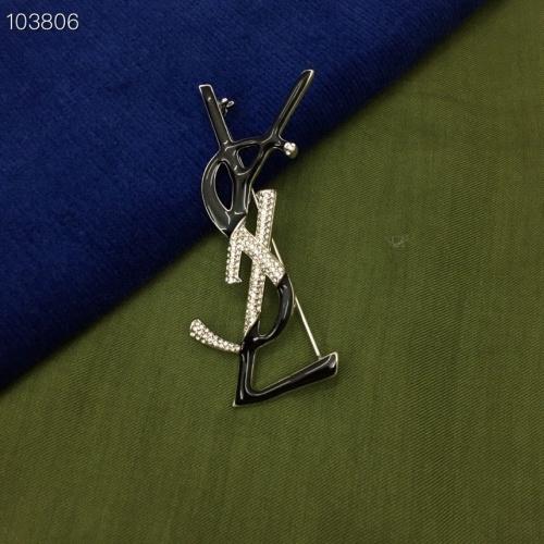 Yves Saint Laurent Brooches #879943 $36.00 USD, Wholesale Replica Yves Saint Laurent Brooches