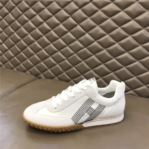 Replica Hermes Casual Shoes For Men #879976 $80.00 USD for Wholesale