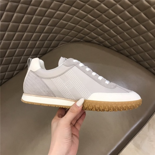 Replica Hermes Casual Shoes For Men #879977 $80.00 USD for Wholesale