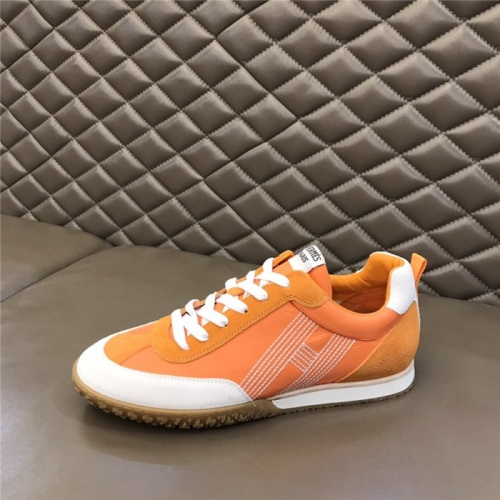 Replica Hermes Casual Shoes For Men #879979 $80.00 USD for Wholesale