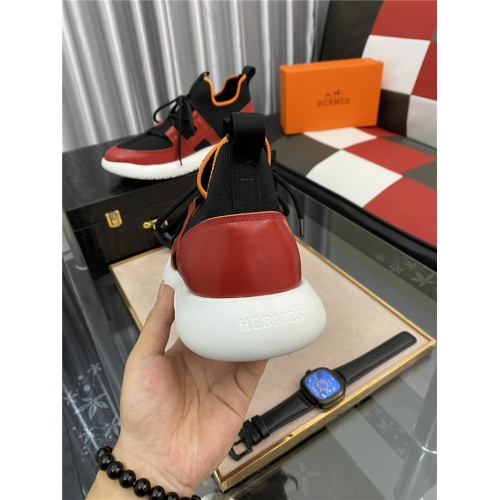 Replica Hermes Casual Shoes For Men #879981 $76.00 USD for Wholesale