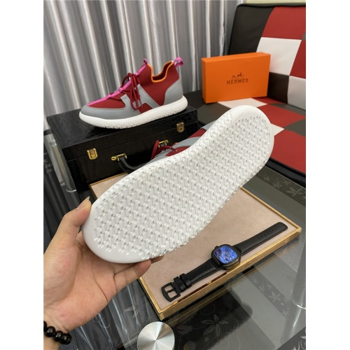 Replica Hermes Casual Shoes For Men #879982 $76.00 USD for Wholesale