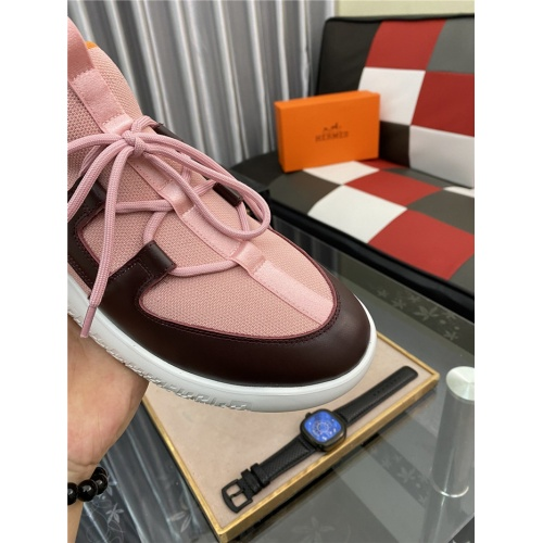Replica Hermes Casual Shoes For Men #879983 $76.00 USD for Wholesale
