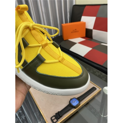 Replica Hermes Casual Shoes For Men #879985 $76.00 USD for Wholesale