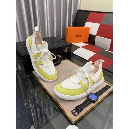 Replica Hermes Casual Shoes For Men #879986 $76.00 USD for Wholesale