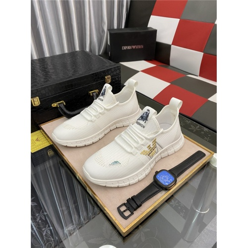 Armani Casual Shoes For Men #879987 $72.00 USD, Wholesale Replica Armani Casual Shoes