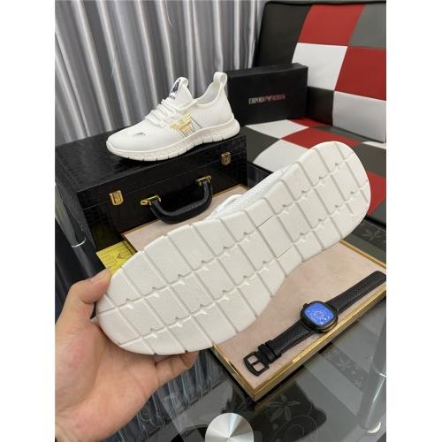Replica Armani Casual Shoes For Men #879987 $72.00 USD for Wholesale